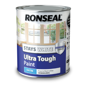 Ronseal Stays white ultra tough paint from